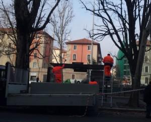 Pensilina ripristinata in piazza Prealpi
