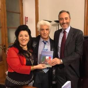 Rocco Basciano con Giulio Gallera