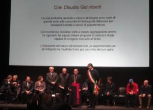 Premiazione di don Claudio Galimberti
