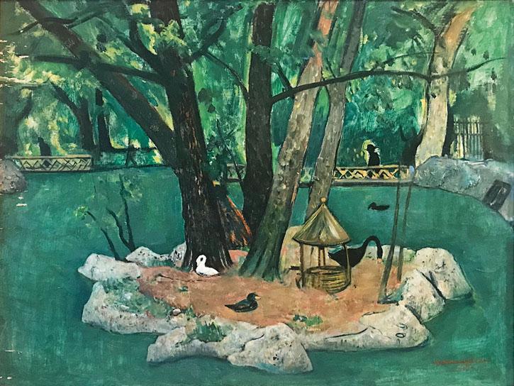 17. Cesare Breveglieri, L'Isolotto delle anitre, 1935, Collezione privata