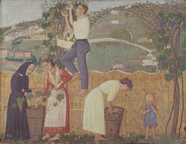 2. Alberto Magri, La vendemmia, 1912, trittico, tempera su tavola, coll. privata 002
