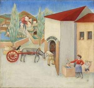 7. Gigiotti Zanini - Paesaggio con carretto - 1919, Trento, MART Archivio fotografico e mediateca