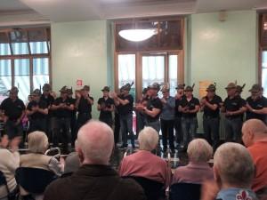 Il coro degli Alpini di Latina all'Istituto Palazzolo