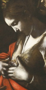 Particolare-santa-Orsola-Caravaggio