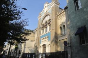 La facciata della Sinagoga di via della Guastalla a Milano
