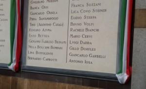 Alcuni nomi dei commemorati
