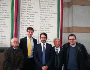 Gino e Christian Iosa, con L. Bertolè e A. Giungi