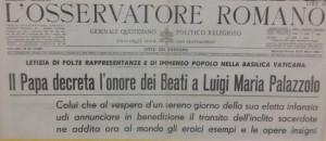 Stralcio de L'Osservatore Romano, marzo 1963