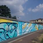 Il murale in viale Achille Papa