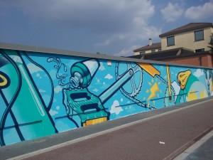 Elementi di bici del murale