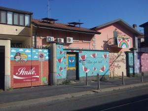 Il murale di via Monte Altissimo