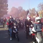 La tifoseria milanista si ritrova in piazzale Accursio per dare supporto alla squadra